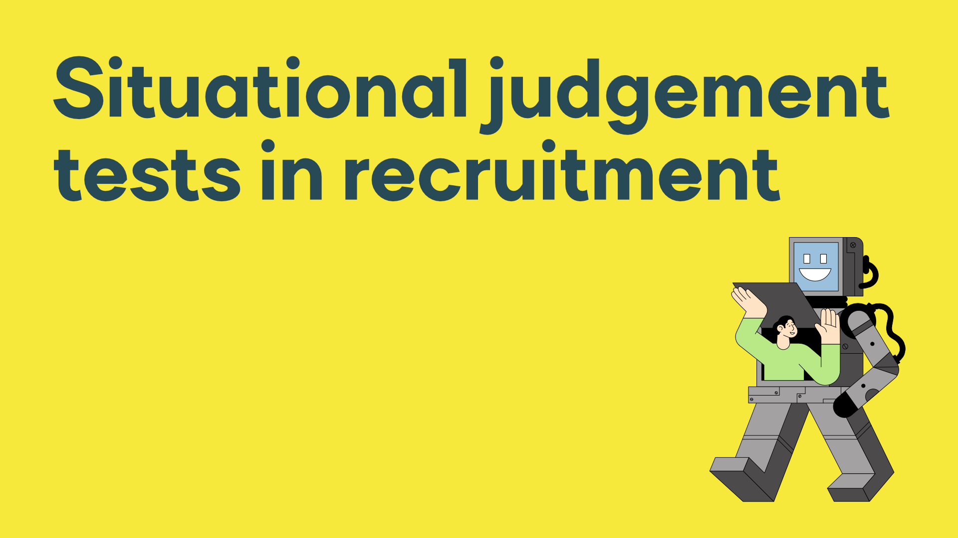 Using situational judgement tests in recruitment